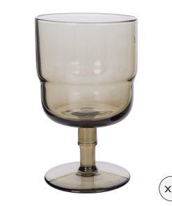 A by Amara - Drop Wine Glasses - Set of 6 - Cognac