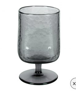A by Amara - Hammered Wine Glasses - Set of 6 - Grey