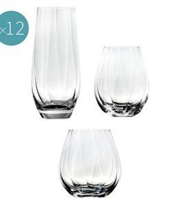 Bianca Optic 12-Piece Stemless Wine Glass Set