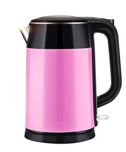 1.7 Litre 18/10 Food Grade Stainless Steel Electric Kettle Kitchen 2 Colors Pink