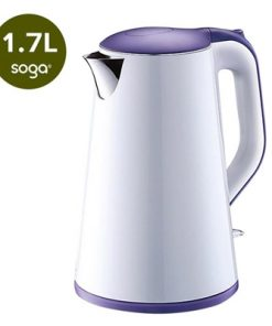 1.7 Litre 18/10 Food Grade Stainless Steel Electric Kettle Kitchen Slim White