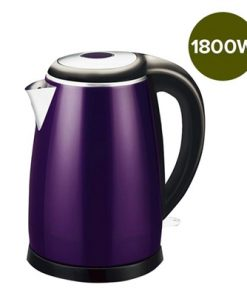 18/10 Stainless Steel Cordless 1.7L Kettle Jug Electric 360 Base 1800W Purple