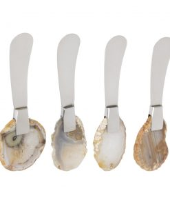 A by Amara - Natural Agate Butter Spreaders - Set of 4