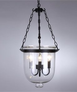 Beckett Metal & Glass Lantern Chandelier