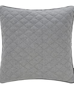 A by Amara - Diamond Quilted Reversible Cushion - Grey