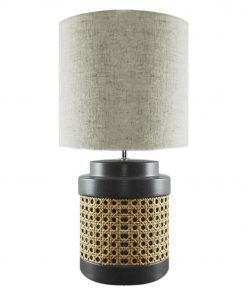 Albori 60W E27 Table Lamp Size W 22cm x D 22cm x H 42cm in Grey Freedom