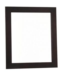 120x100cm Solid Mahogany Frame Mirror without Stud in Chocolate