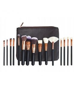 15Pcs Soft Pro Face Powder Makeup Brushes Set Blending Highlight Tools