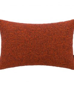 A by AMARA - Beaded Cushion - Orange