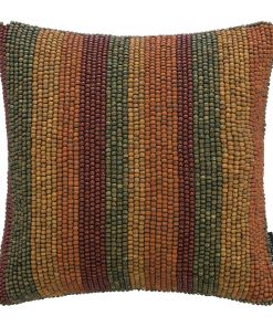 A by AMARA - Beaded Stripe Cushion - Multicolour