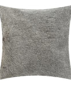 A by AMARA - Cowhide Cushion - 45x45cm - Grey