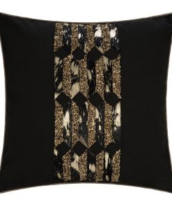 A by AMARA - Embroidered Cowhide Cushion - 45x45cm