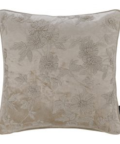 A by AMARA - Floral Embroidered Cushion - 45cmx45cm