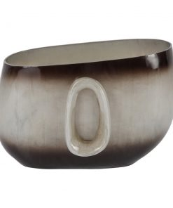 A by AMARA - Ombre Silver Oval Vase - Small