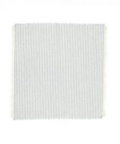 Abby 4 Piece Stripe Fabric Napkin Set, Light Blue