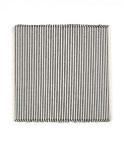 Abby 4 Piece Stripe Fabric Napkin Set, Olive
