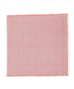 Abby 4 Piece Stripe Fabric Napkin Set, Terracotta