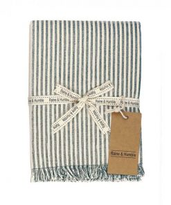Abby Stripe Fabric Tablecloth, 170cm, Olive