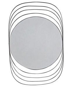 Alex Metal Frame Wall Mirror, 120cm, Black