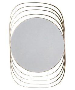Alex Metal Frame Wall Mirror, 120cm, Champagne Silver