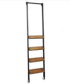Alford Industrial Timber Step Metal Frame Ladder for 6 Tier Display Shelf