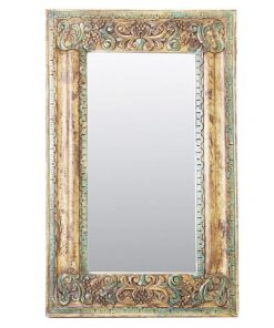 Alison Handcarved Timber Frame 122cm Wall Mirror