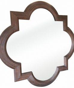 Amal Oak Timber Frame Wall Mirror, 90cm, Brown Oak