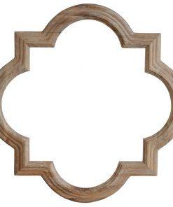 Amal Oak Timber Frame Wall Mirror, 90cm, Lime Washed Oak