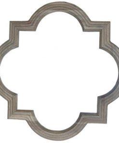 Amal Oak Timber Frame Wall Mirror, 90cm, Weathered Oak