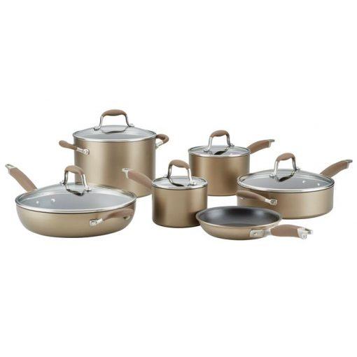 Anolon Advanced Home Bronze 11 Piece Cookware Set