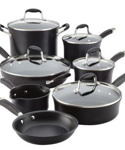 Anolon Advanced Onyx 12 Piece Cookware Set