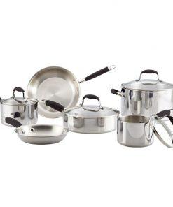 Anolon Tri-Ply Onyx 10 Piece Cookware Set