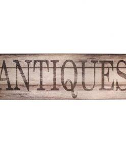 """""""Antiques"""" Wooden Plaque"""