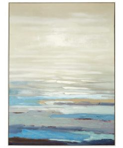 """Navy Cliff View"" Canvas Wall Art Print, 120cm"