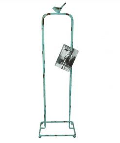 Old Street Distressed Iron Card/Photo Holder with Bird