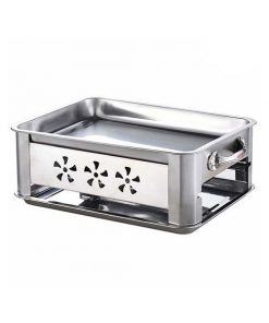 36Cm Stainless Steel Outdoor Chafing Dish Bbq Fish Stove Grill Plate