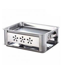 40Cm Stainless Steel Outdoor Chafing Dish Bbq Fish Stove Grill Plate