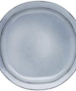 Alassio Dinner Plate Size W 27cm x D 27cm x H 3cm in Grey Stoneware Freedom