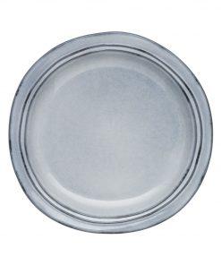 Alassio Side Plate Size W 22cm x D 22cm x H 2cm in Grey Stoneware Freedom