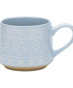 Arica Mug Size W 12cm x D 8cm x H 10cm in Blue Stoneware Freedom