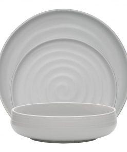 Berrendo 12 Piece Dinner Set Size W 29cm x D 38cm x H 29cm in Grey Stoneware Freedom