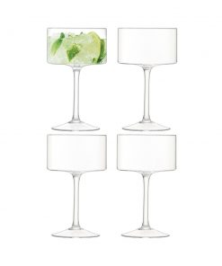 LSA International - Otis Champagne/Cocktail Glass - Clear - Set of 4