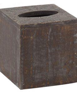 Anila Mango Wood Square Tissue Box