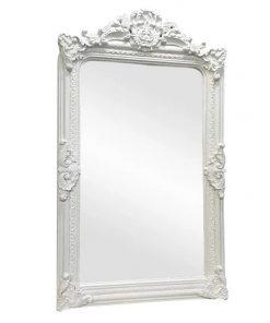 Elizabeth Baroque Floor Mirror, 200cm, White