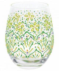 Lemon Henna Tumbler Glass
