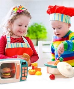 Microwave Toys Kitchen Play Set,Kids Pretend Play Electronic Oven