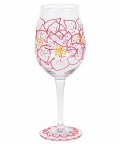 Poinsettias Wine Glass