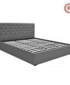 Queen Fabric Gas Lift Bed Frame with Headboard