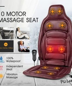10 Motor Vibration Massage Cushion Heat Massage Chair Pad for Home Office Car