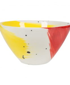 Bliss Home - Fabbro Swish Salad Bowl - Red and Yellow